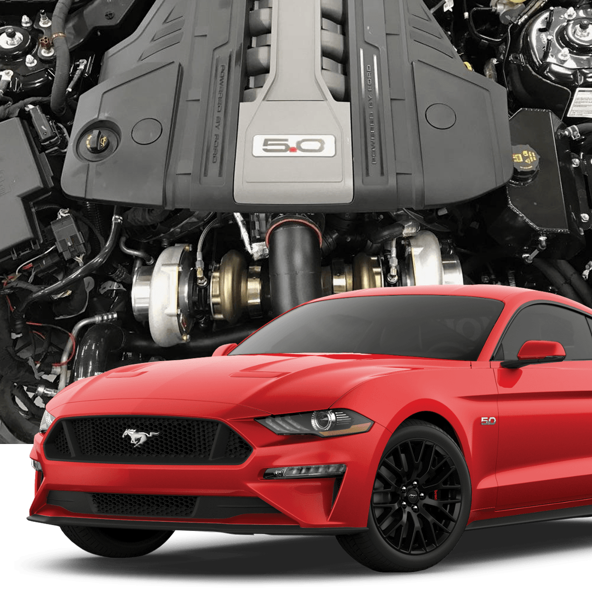 Mustang V6 Turbo Kits: 2018 Mustang GT Hellion Twin Turbo Tuner System