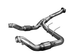 2011-2014 F150 Ecoboost Kook Stainless Steel GREEN Catted Downpipe