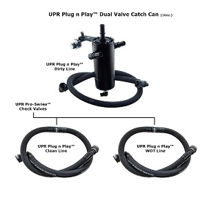 2015-2017 F150 2.7L Ecoboost UPR Dual Valve Catch Can System with CSCC