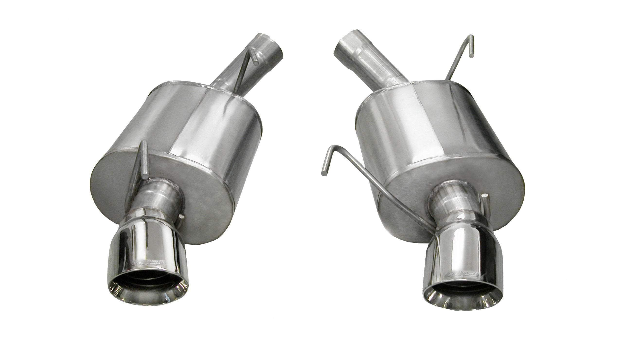 CORSA SPORT SOUND LEVEL (14311) 2.5 IN AXLE-BACK SINGLE 4.0 IN TIPS 2005-2010 FORD MUSTANG GT, GT500 (POLISHED TIPS)