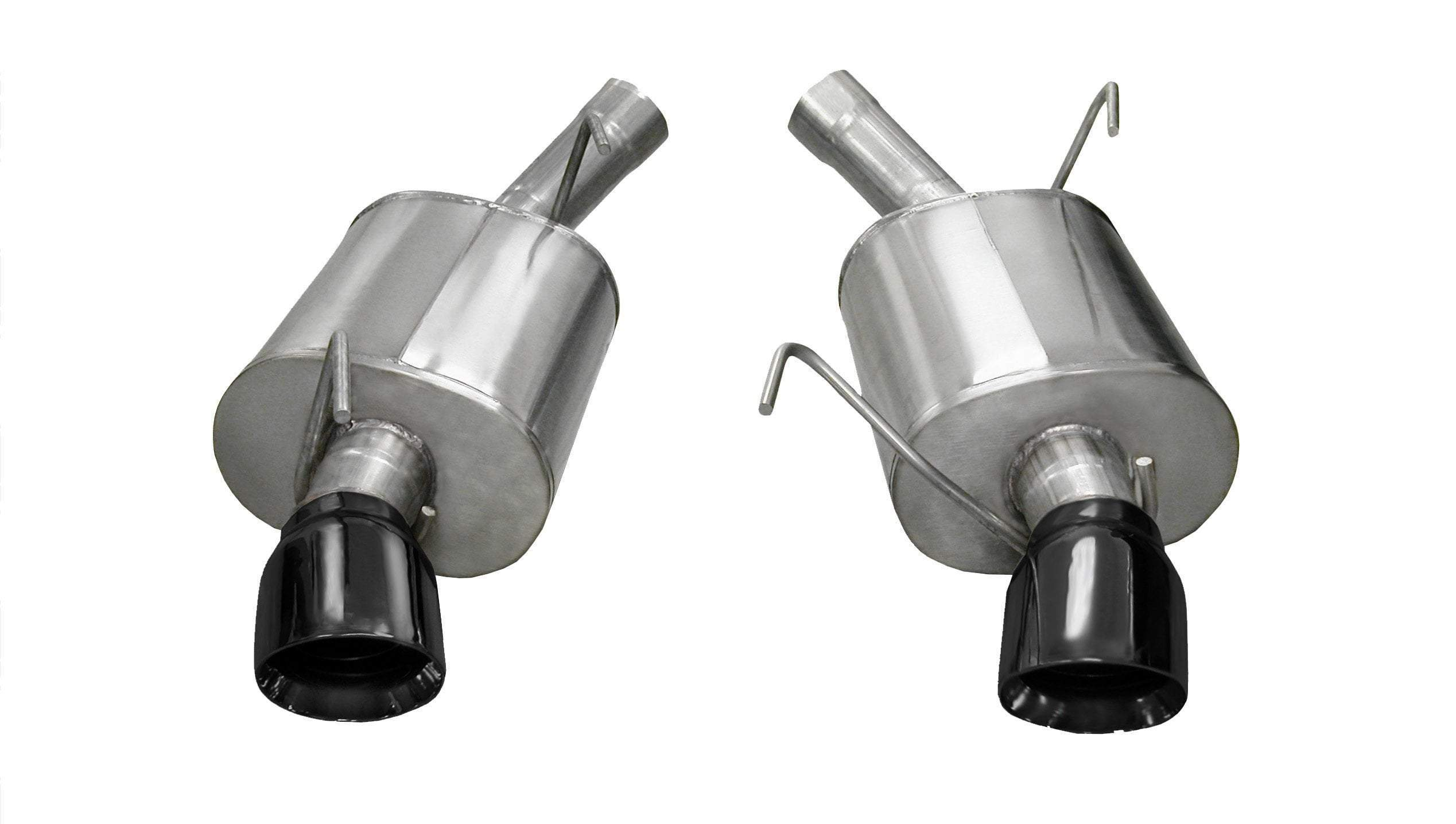CORSA SPORT SOUND LEVEL (14311) 2.5 IN AXLE-BACK SINGLE 4.0 IN TIPS 2005-2010 FORD MUSTANG GT, GT500 (BLACK TIPS)