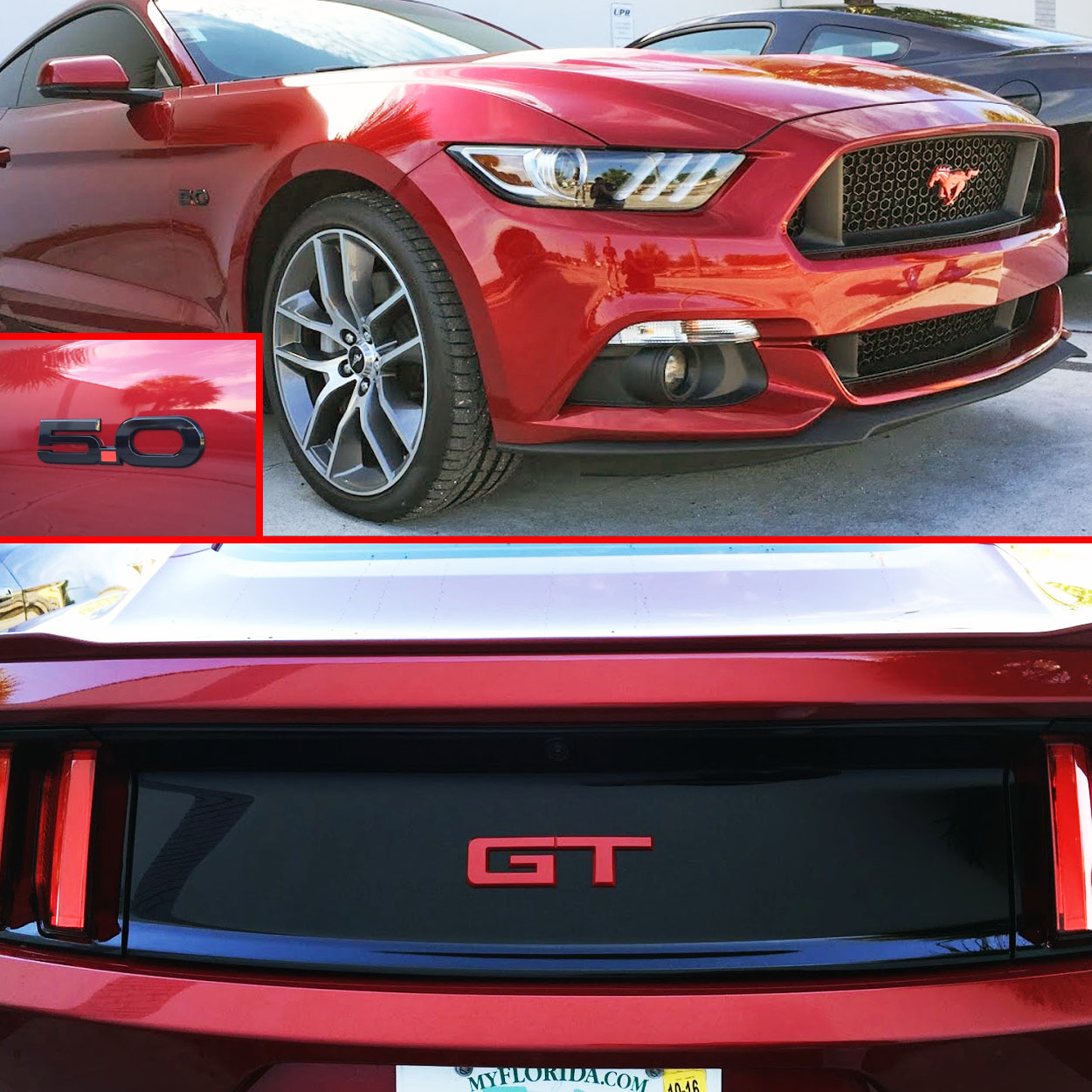 2015-2018 Mustang GT Colored Emblem Package Officially Ford Licensed