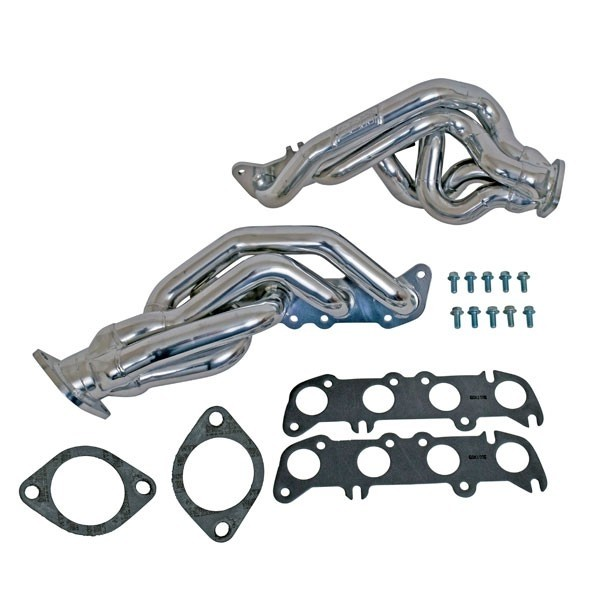 BBK 11-14 Mustang GT Shorty Tuned Length Exhaust Headers - 1-5/8 Silver Ceramic