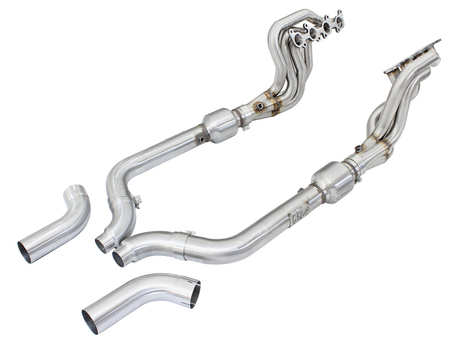 2015-2017 Mustang GT 5 0L AFE Twisted Steel Long Tube Header & Connection  Pipes