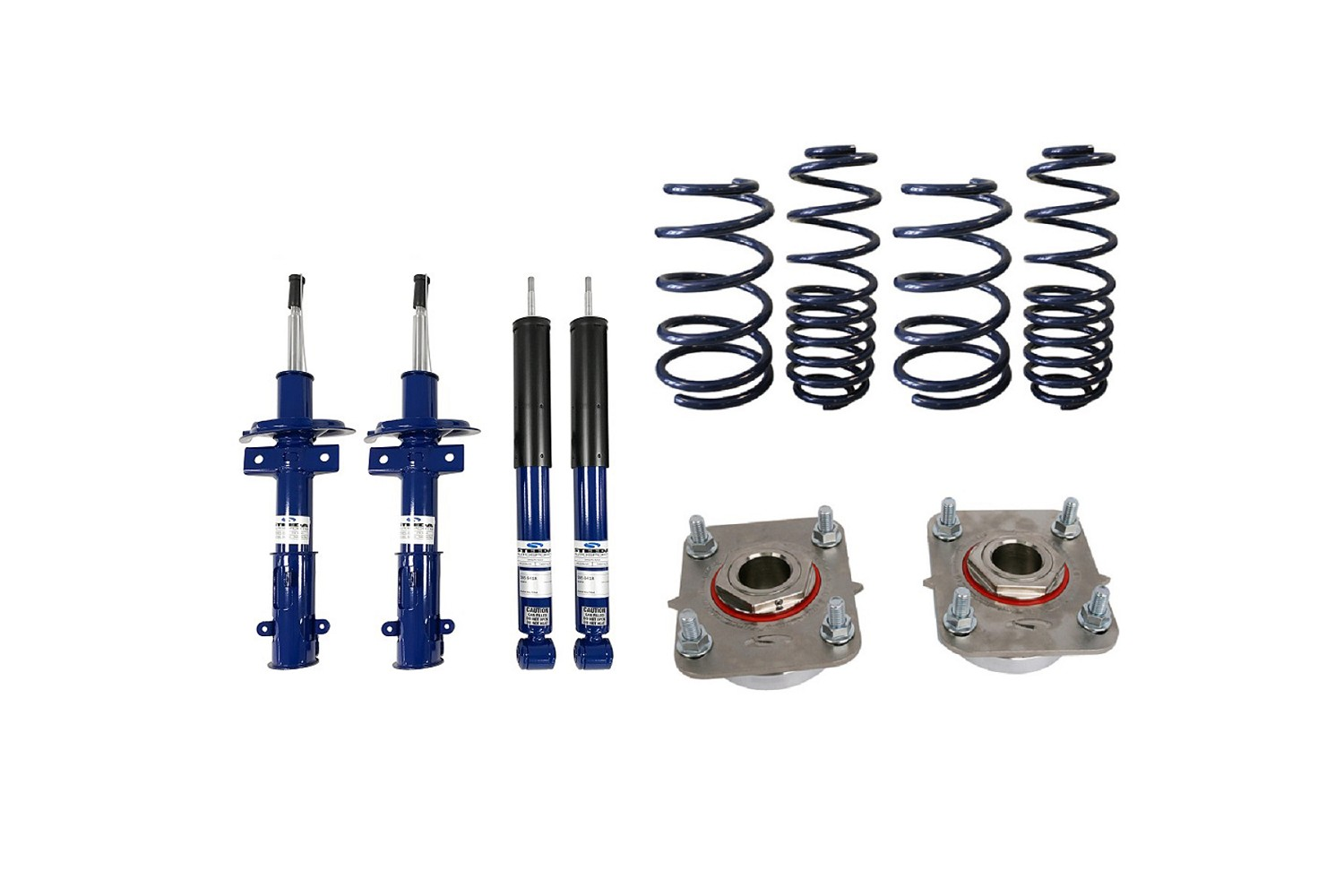2011-2014 Mustang GT Steeda Pro-Action Ultra-Lite Lowering Spring/Shock/Strut Mount Package