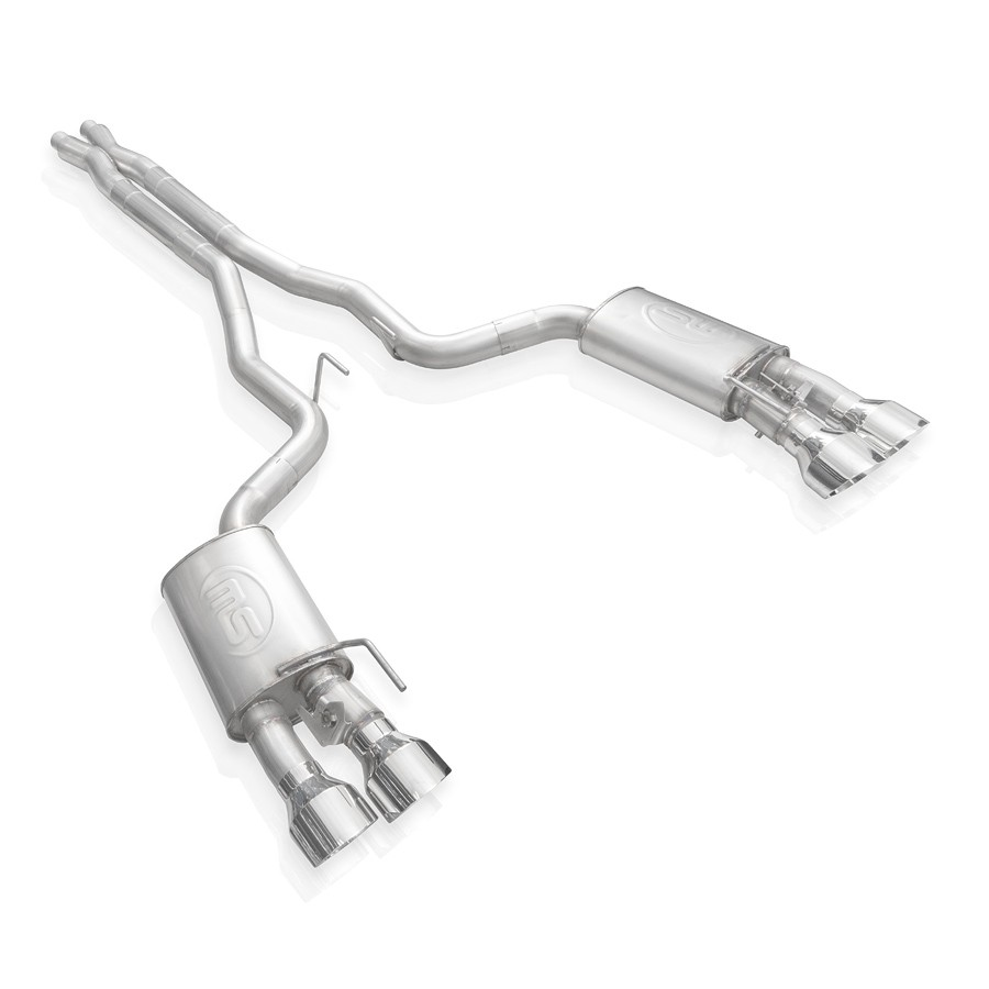 Stainless Works 2020 Ford GT500 Legend Catback X-Pipe Exhaust Factory Connect - Polished Tips