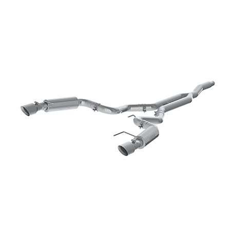 MBRP 15-20 Ford Mustang EcoBoost 2.3L Alum 3in Cat Back Dual Split Rear Exit (Race Version)
