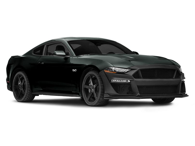 2018 - 2020 Anderson Composites FORD MUSTANG TYPE-ST (GT500 STYLE) FIBERGLASS FRONT BUMPER WITH FIBERGLASS GRILLE/FRONT LIP
