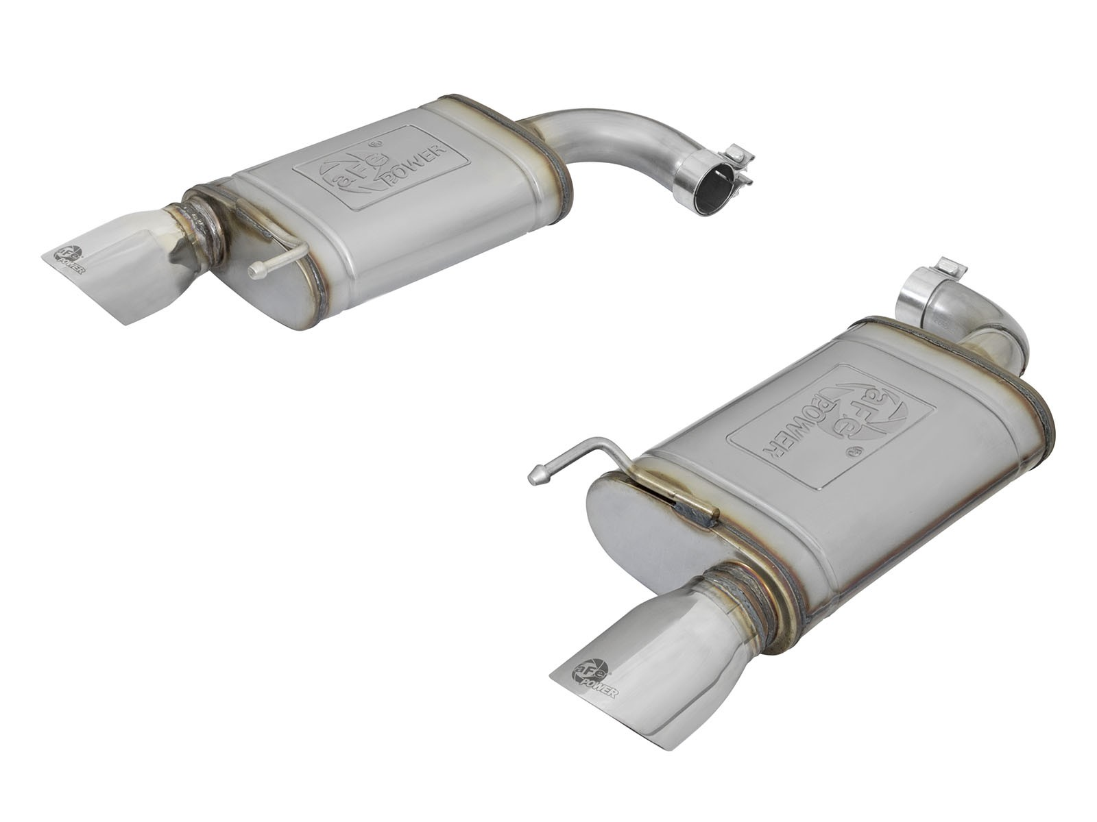 aFe MACHForce XP 2.5in 409 Stainless Axle Back Exhaust w/Stainless Tips 15-17 Ford Mustang I4-2.3L
