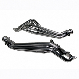 2015-2017 Mustang GT BBK Longtube Headers Polished Silver Ceramic
