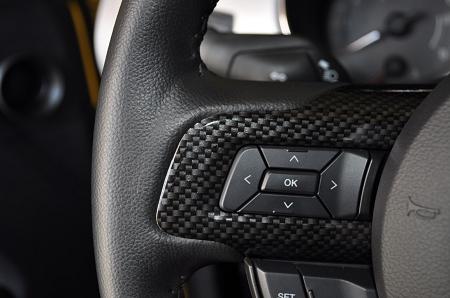 2015 2017 Mustang Gt Carbon Fiber Steering Wheel Bezels