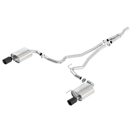 2015-2017 MUSTANG 2.3L ECOBOOST TOURING CAT BACK EXHAUST SYSTEM BLACK CHROME