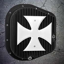 2004-2014 F150 Outlaw Differential Cover Black w/ Polished Iron Cross