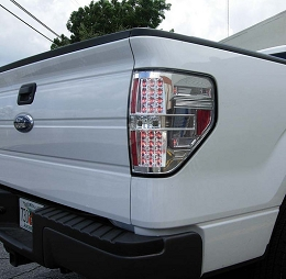 2009-2014 F150/Raptor Recon Clear LED Tailights