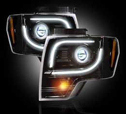 2013-2014 F150/Raptor Recon Smoked Projector Headlights(for OEM Projectors)