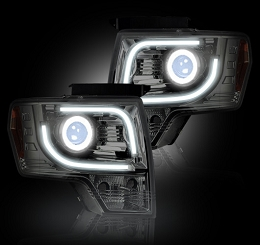 2013-2014 F150/Raptor Recon Clear Projector Headlights(for OEM Projectors)