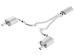 Borla 15-16 Ford Mustang EcoBoost 2.3L AT/MT EC-Type Cat Back SS Single Round Rolled Tips Exhaust