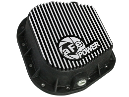 1997-2017 F-150 AFE Rear Differential Cover, Black w/ Machined Fins; Pro Series