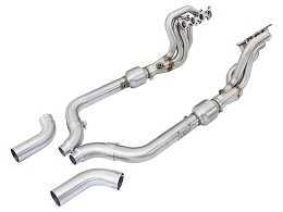 2015-2017 Mustang GT 5.0L AFE Twisted Steel Long Tube Header & Connection Pipes; Street Series