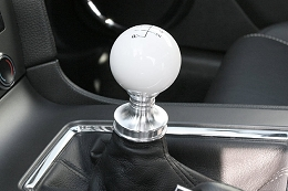 2011-2019 Mustang Steeda White Engraved Shift Knob and Adapter