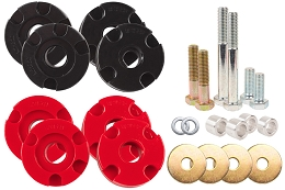 2015-2018 Mustang GT Steeda Adjustable Differential Bushing Insert System, Polyurethane