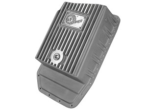2009-2017 F-150 (6R8O Transmission) AFE Transmission Pan, Machined Fins, Raw FInish