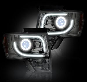 2014 F150 Headlights >> 2013 2014 F150 Raptor Recon Clear Projector Headlights For Oem Projectors